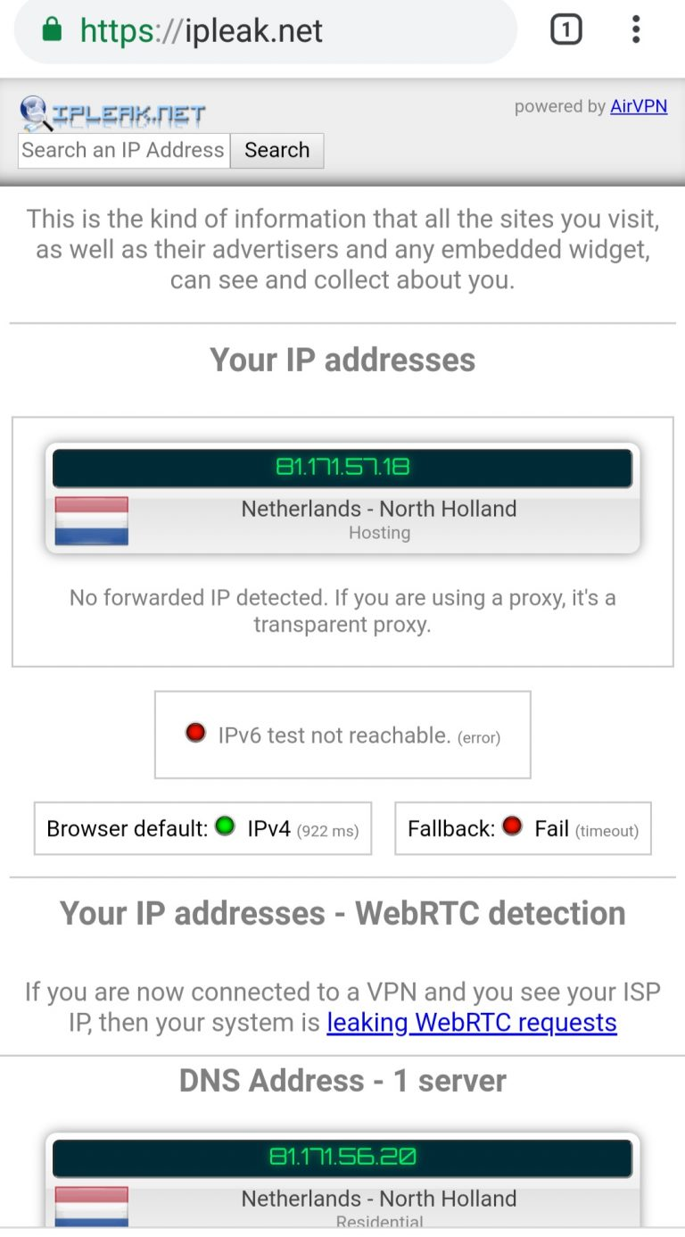 pornhub vpn DNS leak test