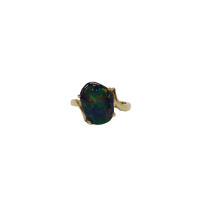 9ct yellow gold freeform Opal ring 2.70CT_0