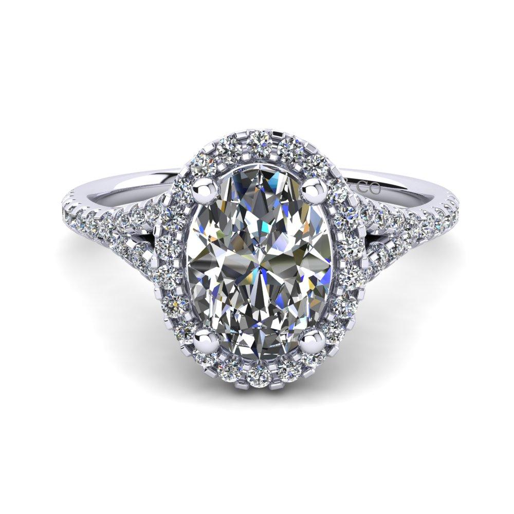 Penelip Oval Diamond ring
