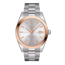 Tissot Gentleman 18k Rose Gold Bezel Gents Watch T9274074103100_0