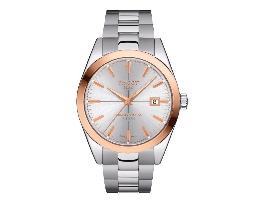 Tissot Gentleman 18k Rose Gold Bezel Gents Watch T9274074103100_0