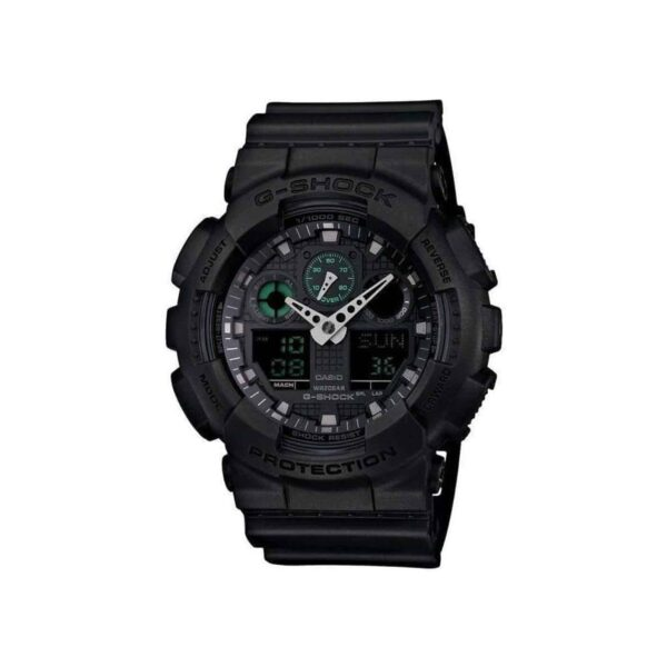 G Shock Ga100mb-1A / Matte Black / Anolog Digital / Large Case._0