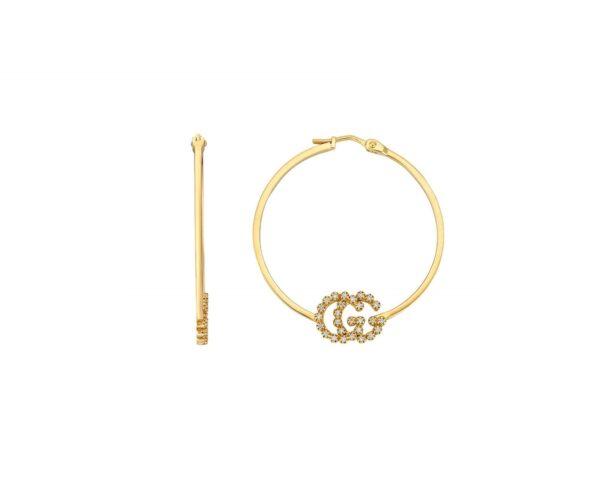 Gg Logo Hoop Earrings Ybd58199500100u_0