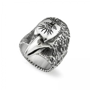 Gucci Angry Forest Eagle Head Ring YBC476903001022_0
