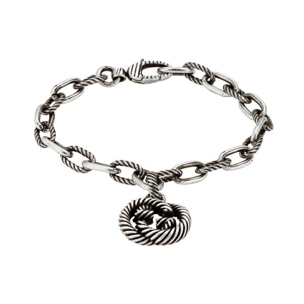 Gucci Sterling Silver Interlocking G Bracelet YBA607158001018_0