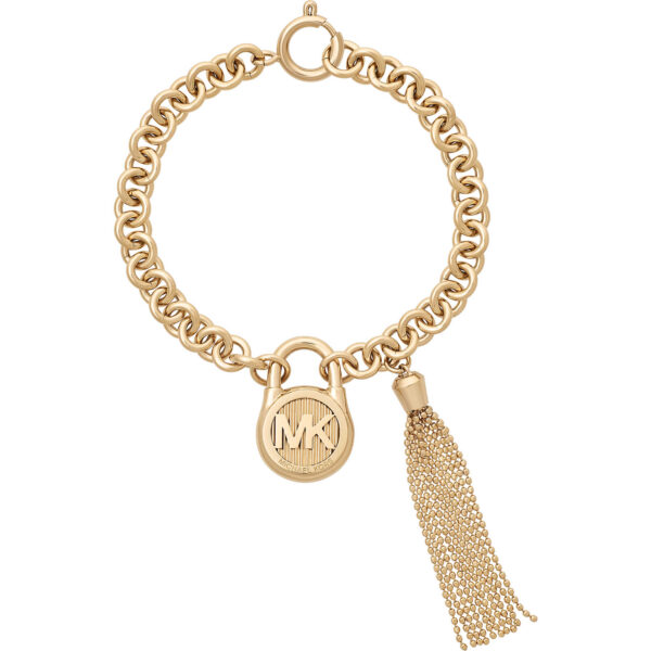 Authentic Michael Kors Gold Fringe Bracelet_0