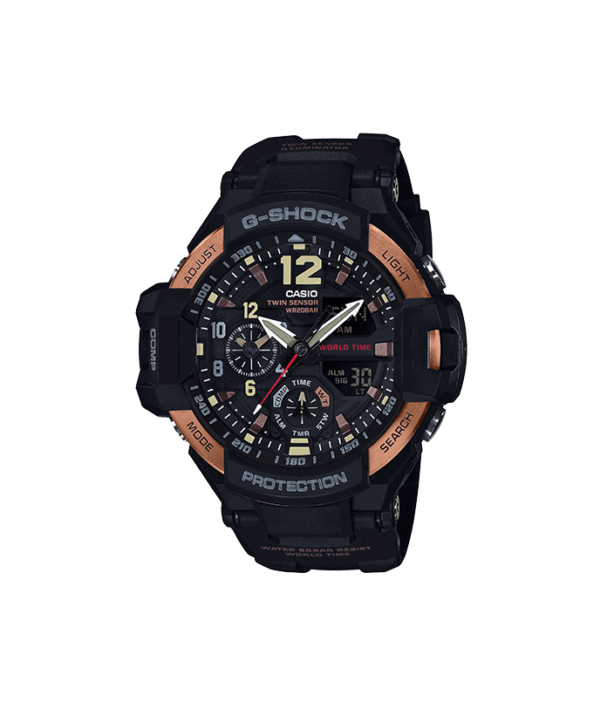 G-Shock Gravity Master Black & Brown Watch GA1100RG-1A_0