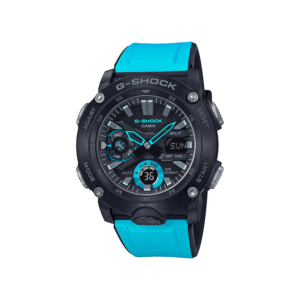 G Shock Ga2000-1A2 / Carbon Core / Bright Blue Band / Analog Digital._0