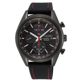 Case Material: Stainless Steel Water Resistance: 100 Metres Case Size: 41.2 Dial Colour: Black Band Colour: Black Case Colour: Black Band Bracelet: Strap - Urethane Glass Type: Sapphire Glass_0
