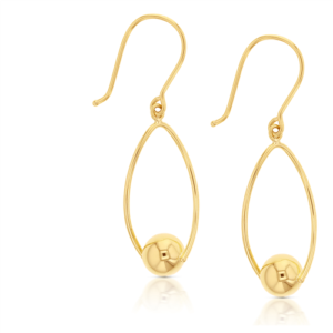 9k Twist Ball Drop Earrings_0