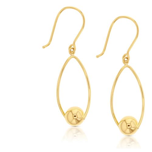 9k Twist Ball Drop Earrings_0