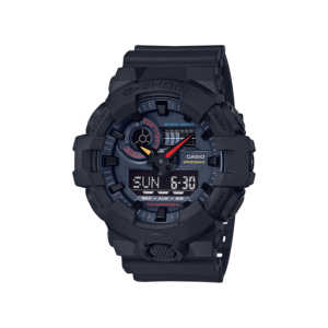 G Shock Ga-700Bmc-1A / Black Case And Strap / Retro Dial / Analog Digital._0