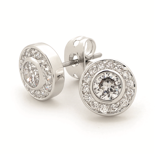 White Cz Round Earring Ie374_1