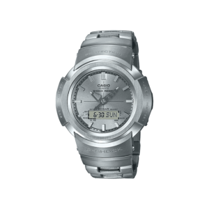 G SHOCK DUO AW500 FULL METAL S/W, ALARM, 200M, WR SILVER FACE, S/STEEL BAND_0