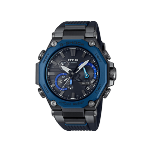 G SHOCK MTG 2 WAY TIME SYNC B/TOOTH/SOLAR, AL BLK FACE/BLUE BEZ, BLK RES BAN_0