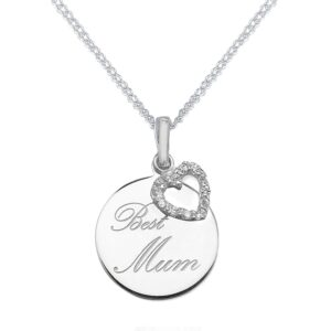 Best Mum Sterling Silver Pendant_0