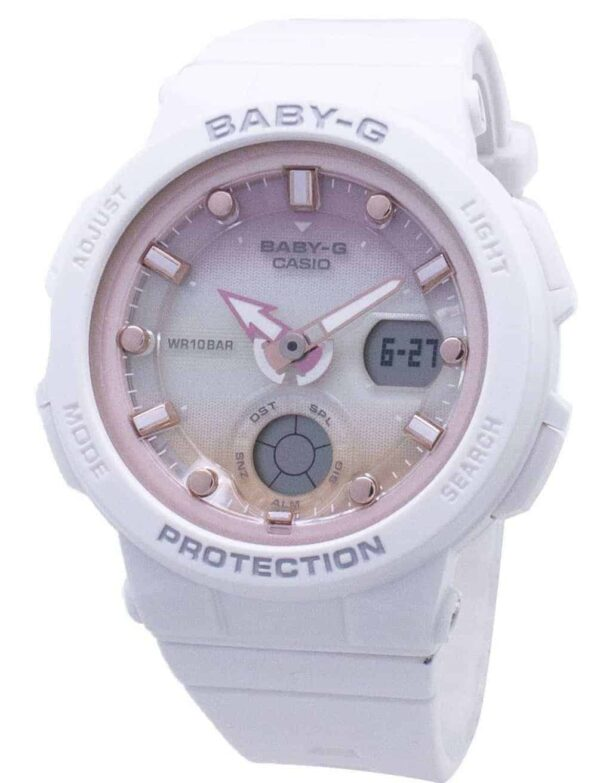 Casio Baby-G Analogue/Digital White/Rose Gold Beach Travel Watch BGA250-7A2 BGA-250-7A2_0