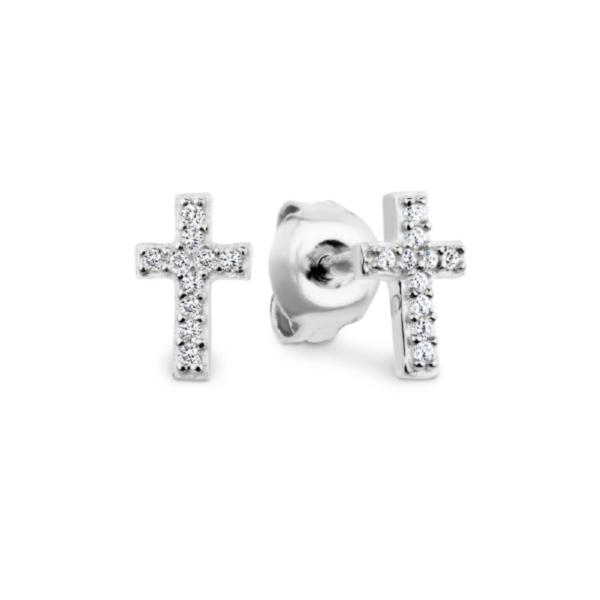 Baby Cross Earring Silver_0