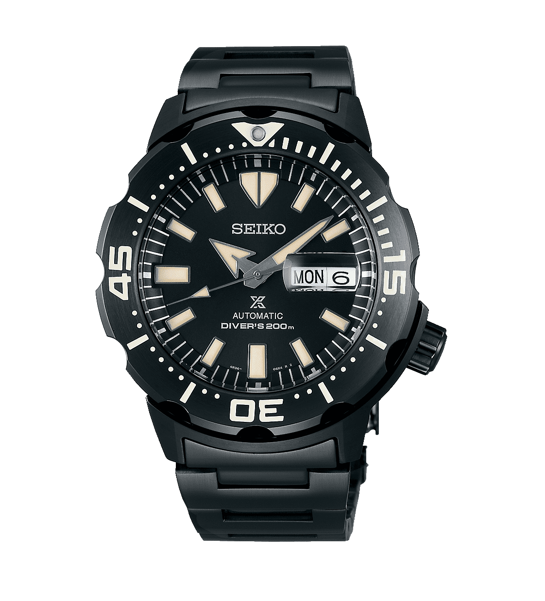 Seiko Black Monster 200M Gents Watch Srpd29k_0