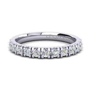Diamond Essentials 18k White Gold Claw Set Band_0