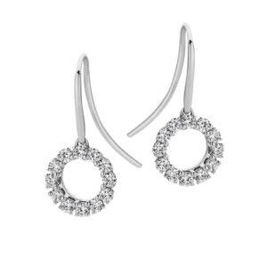 Passion8 9ct wg 0.36ct FG/VS-SI Diamond Circle Sheppard Hook Earrings_0