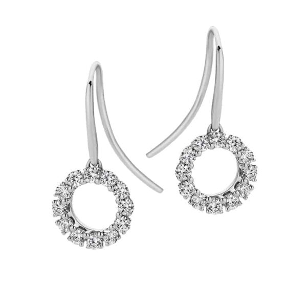 Passion8 9ct wg 0.36ct FG/VS-SI Diamond Circle Sheppard Hook Earrings_0