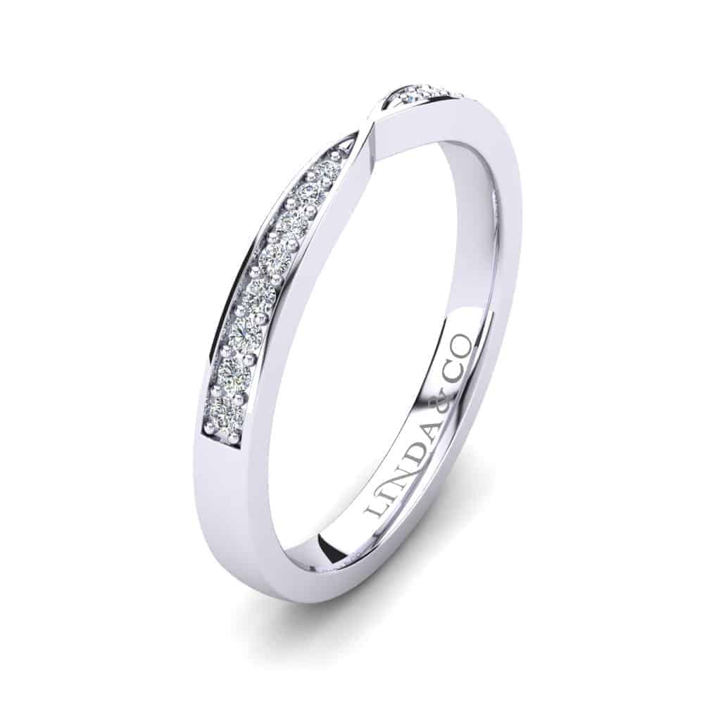 Diamond Essentials 18k White Gold Pinched Pave Set Band_1
