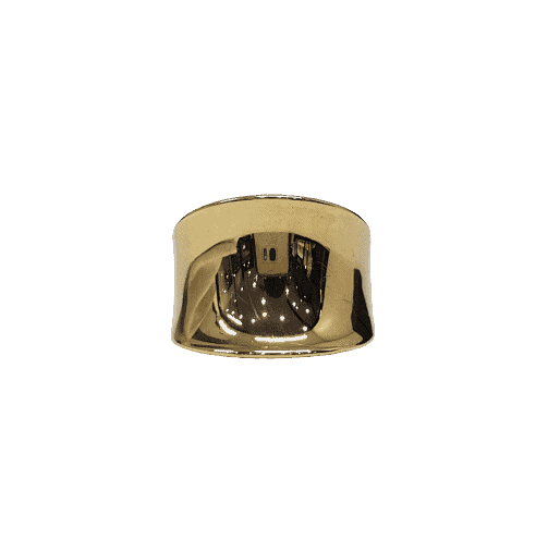 9ct yellow gold plain curved dress ring_0