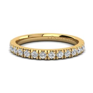 Diamond Essentials 18k Yellow Gold Claw Set Medium Profile Band_0
