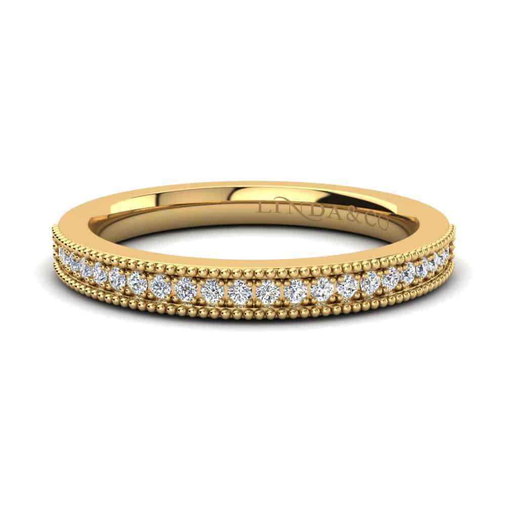 Diamond Essentials 18k Yellow Gold Pave Set Band_0
