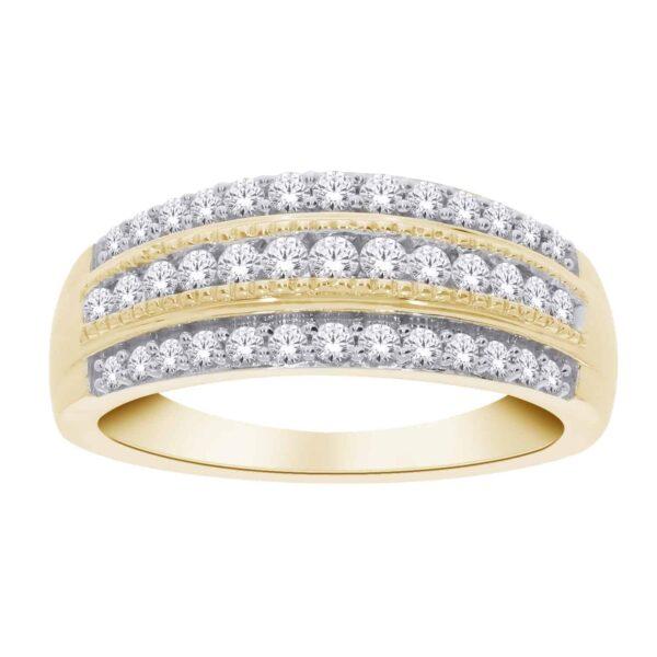 Yellow Gold Diamond Eternity Band_0