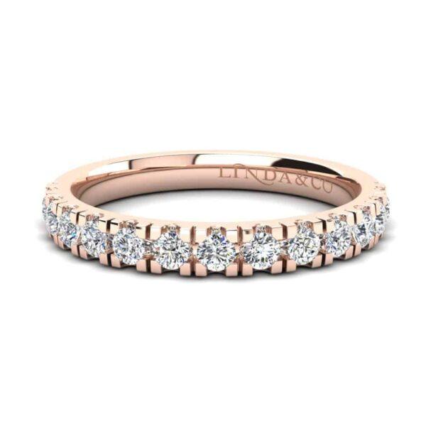 Diamond Essentials 18k Rose Gold Claw Set Band_0