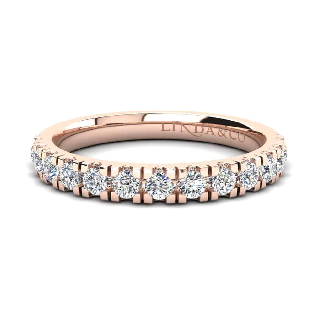 Diamond Essentials 18k Rose Gold Claw Set Band_0