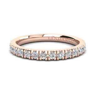 Diamond Essentials 18k Rose Gold Claw Set Medium Profile Band_0