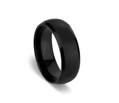 Tungsten Edge Black IP Plated Ring T1/2_0