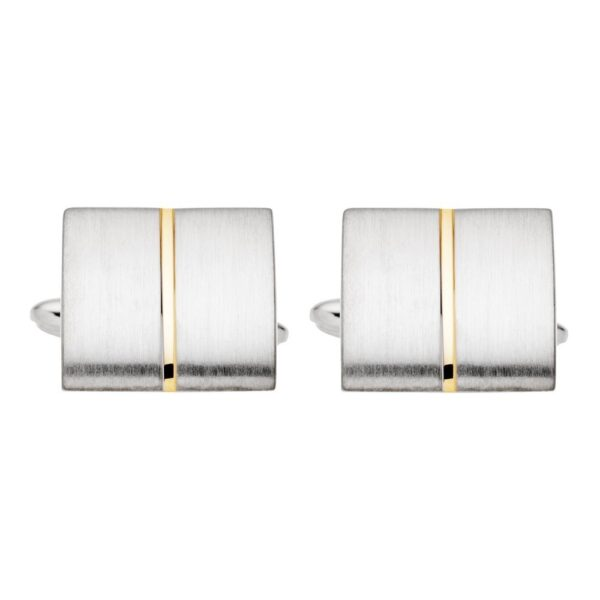 Cufflinks 2 tone gold and silver finish_0