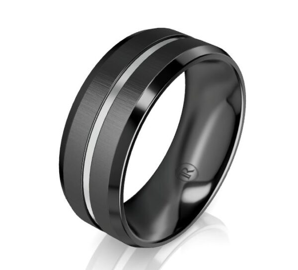 Black Zirconium Gents Ring