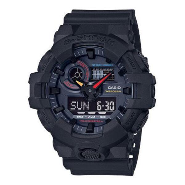G Shock Ga-700Bmc-1A Black Strap/Retro Dial_0
