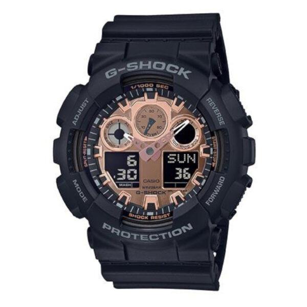 G Shock Ga110mmc-1A Rose Gold Shiny Blk Resin Band_0