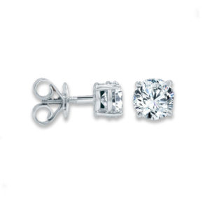 18k Diamond Studs Grade F SI 0.50ct_0