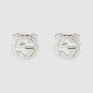 INTERLOCKING G CUFFLINKS LARGE SILVER_0
