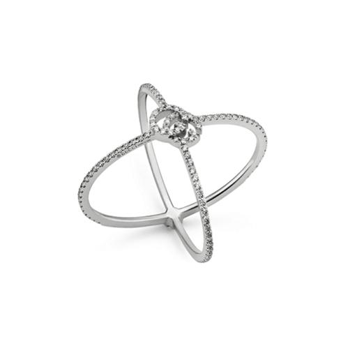 GG RUNNING DIAMOND X RING YBC581978001016_0