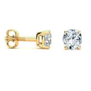 18k Diamond Studs Grade F SI 0.52ct_0