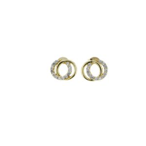 9k Yellow Gold Circle Studs_0