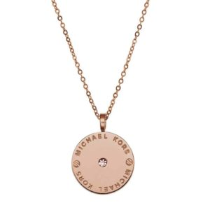 Michael Kors Necklace Plaq Disc Pendant MKJ2656791_0