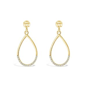 9k Yellow Gold Tear Drop Earrings_0