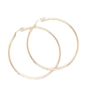 9k Yellow Gold 50mm Hoop Earrings_0