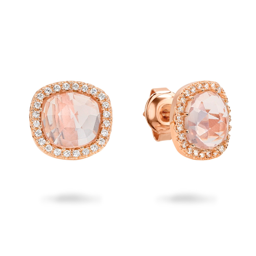 GEORGINI ROSE QUARTZ EARRING IE714RG_0