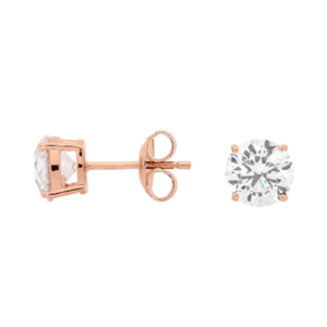 GEORGINI CLEAR ROUND STUDS IE206RG_0