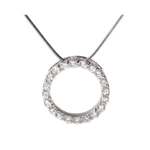 GEORGINI SMALL CIRCLE PENDANT IP248_0